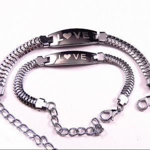 Jewelry - His & Hers LOVE Stainless Steel Bracelets